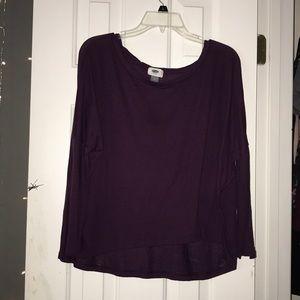 Purple Quarter Sleeve Top
